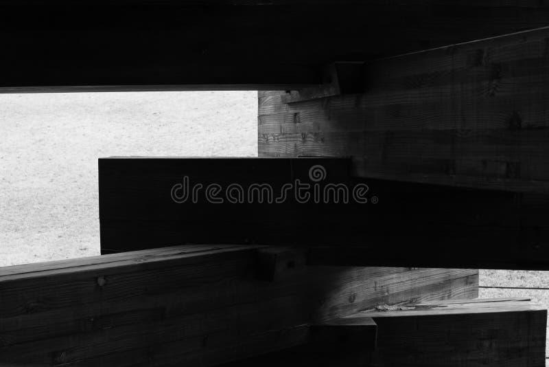 Il legno è sovrapposto fotografia stock