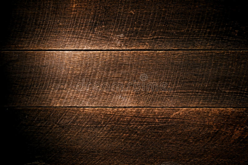 Il legno antico del granaio con ha visto il fondo della plancia dei segni fotografie stock