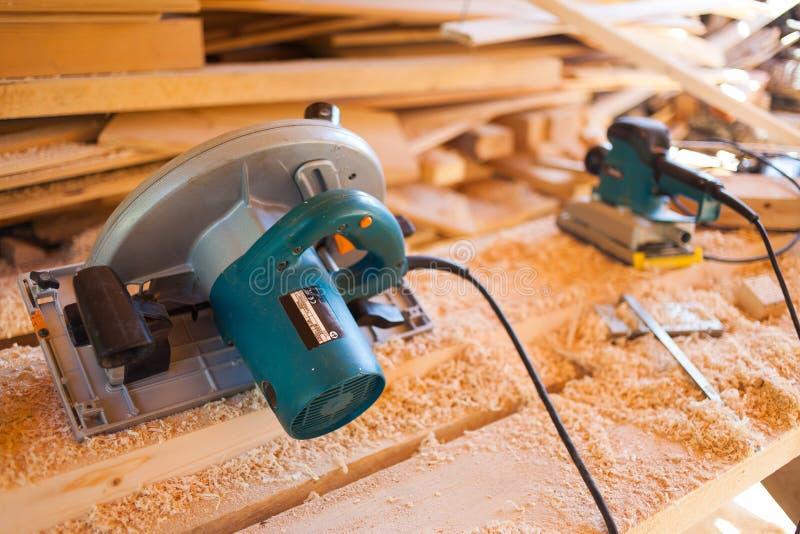 Il legno ha visto immagine stock libera da diritti