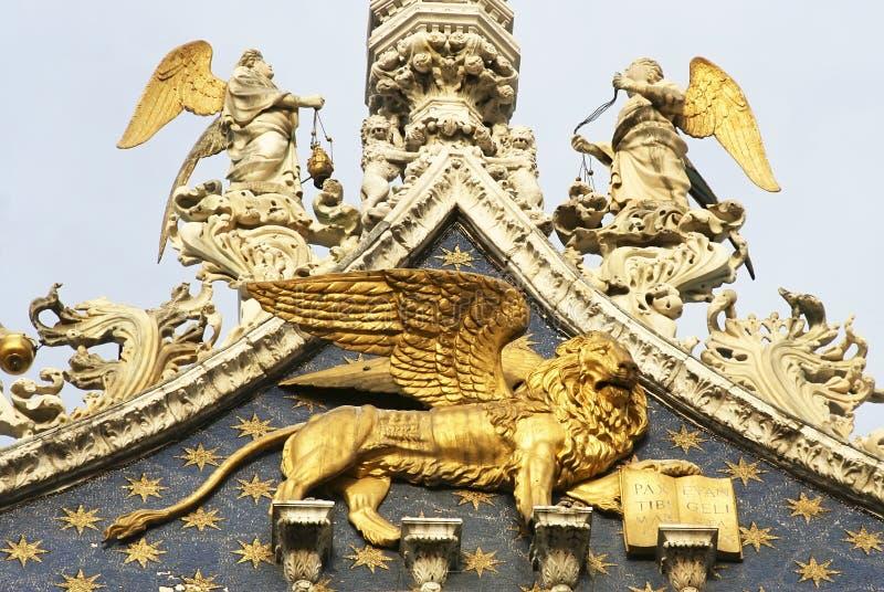 Il leone alato di St Mark immagini stock libere da diritti