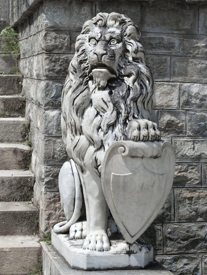 Il leone del guardiano fotografia stock