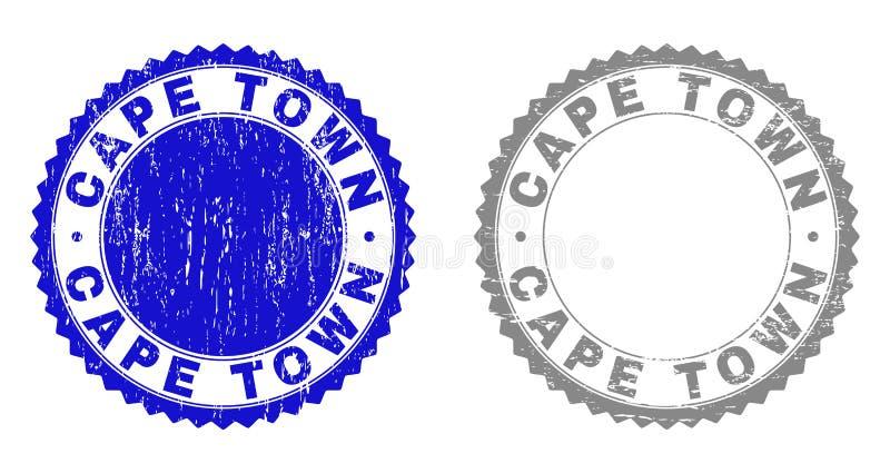 Il lerciume CAPE TOWN ha strutturato le filigrane royalty illustrazione gratis