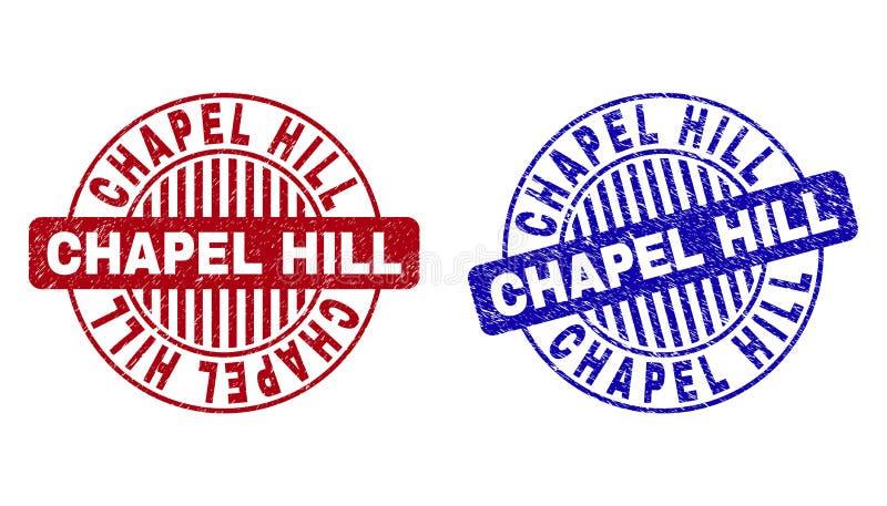 Il lerciume CHAPEL HILL ha graffiato i bolli rotondi royalty illustrazione gratis