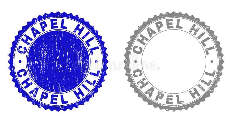 Il lerciume CHAPEL HILL ha strutturato le filigrane illustrazione di stock