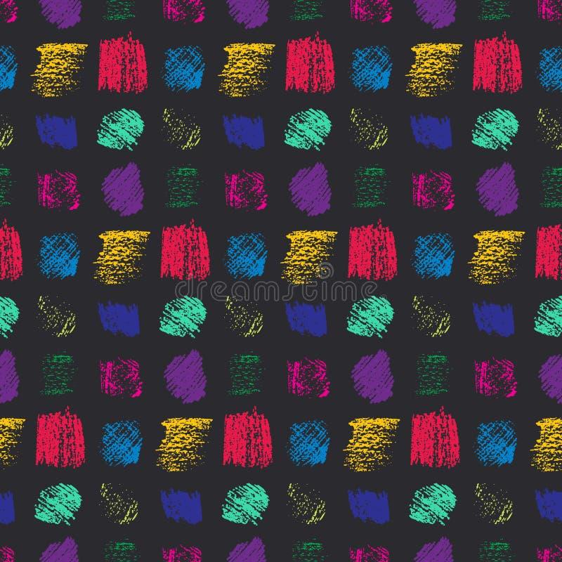 Il lerciume di colore di contrasto graffiato quadra il modello illustrazione di stock