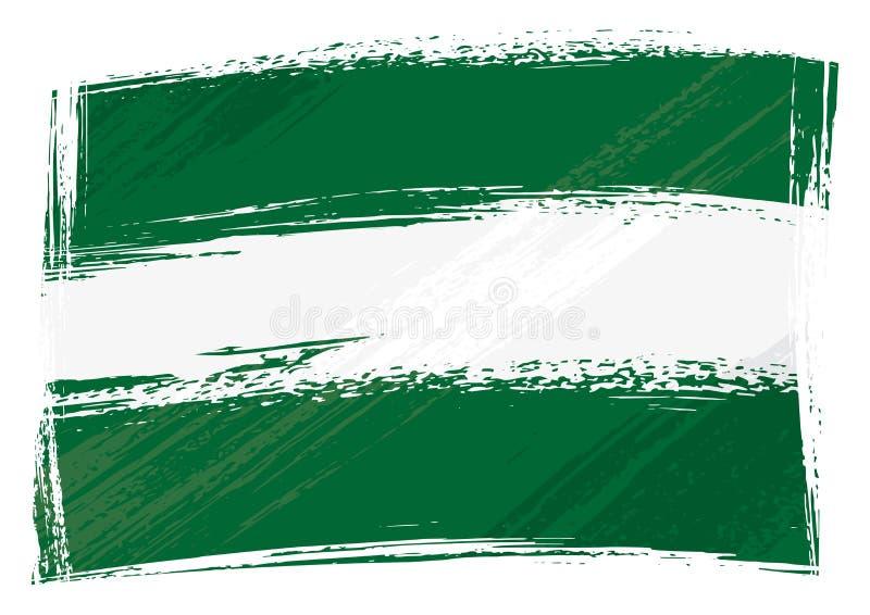 Il lerciume ha dipinto la bandiera dell'Andalusia illustrazione di stock