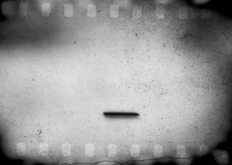 Il lerciume ha graffiato il fondo sporco della striscia di pellicola con effetto vago illustrazione di stock