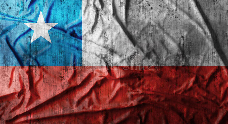 Il lerciume ha sgualcito la bandiera del Cile rappresentazione 3d fotografie stock libere da diritti