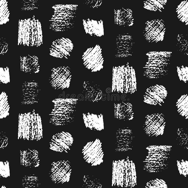 Il lerciume monocromatico graffiato quadra il modello illustrazione di stock
