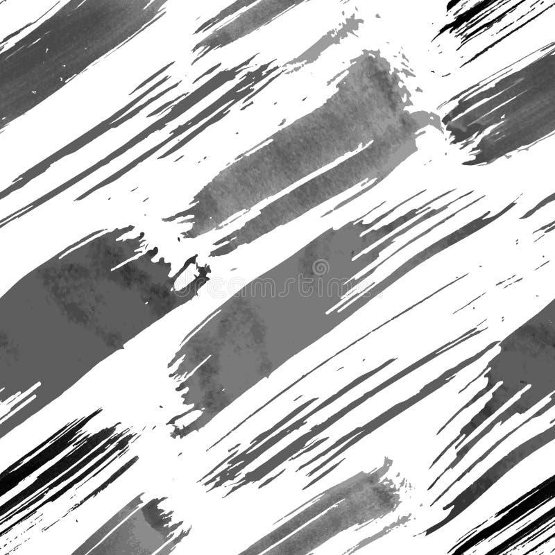 Il lerciume spazzola il modello senza cuciture illustrazione di stock