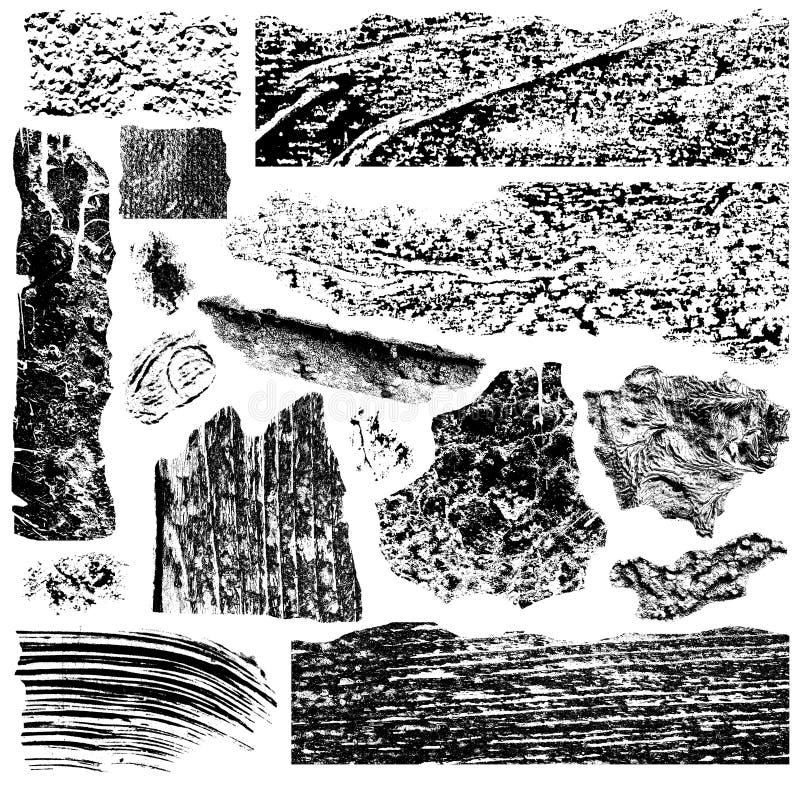 Il lerciume spazzola la raccolta illustrazione di stock