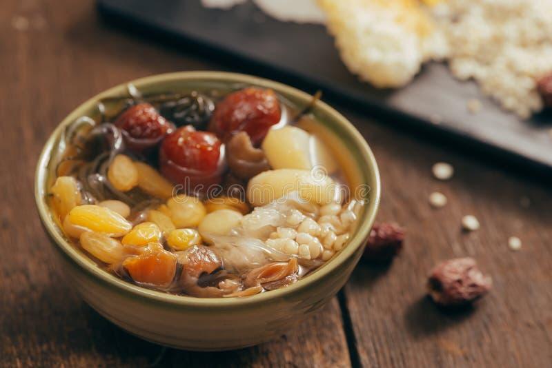 Il leung di Ching BO è minestra fredda dolce in cuis cinesi e vietnamiti immagini stock libere da diritti