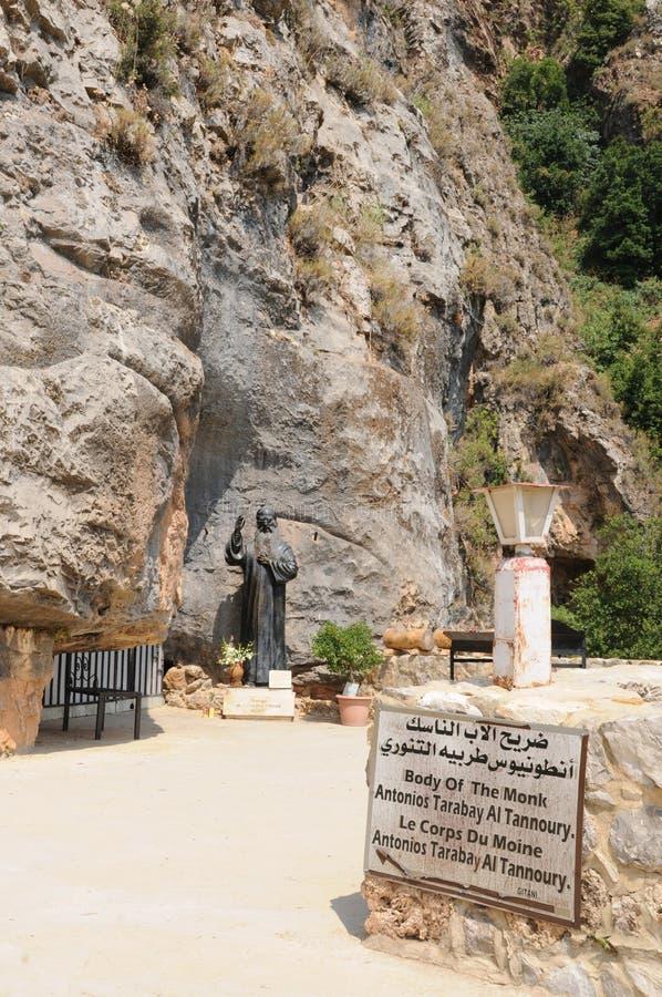 Il Libano: Il monastero marzo di Elyshaa nella valle di Qadisha fotografie stock