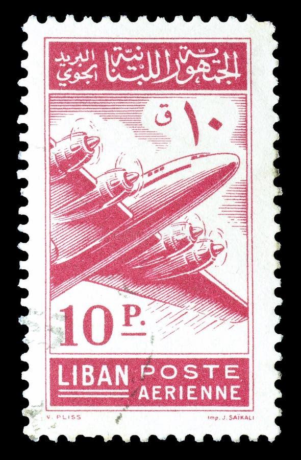 Il Libano sui francobolli immagine stock