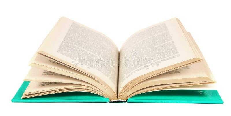 Il libro aperto Su fondo bianco immagine stock libera da diritti