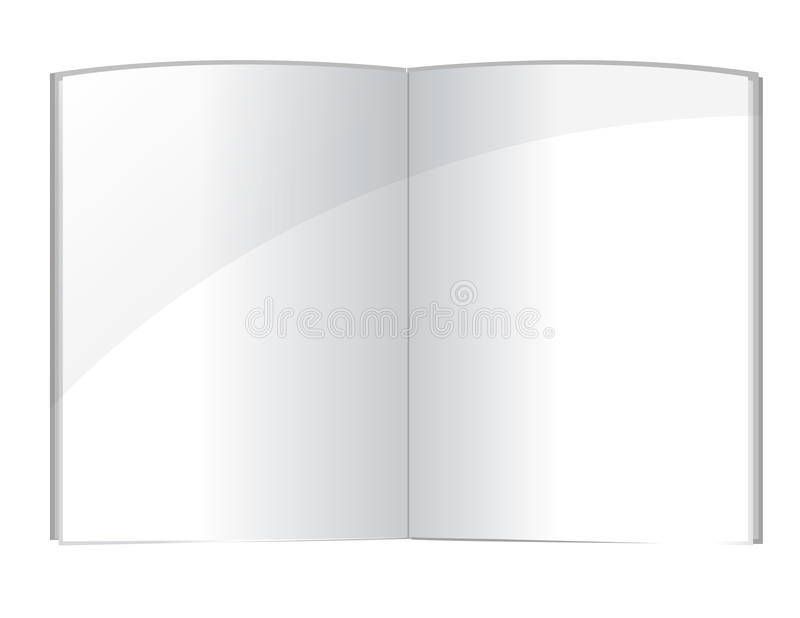 Il libro in bianco pagina il modello illustrazione di stock