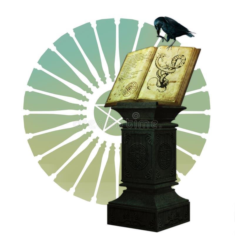 Il libro magico illustrazione vettoriale