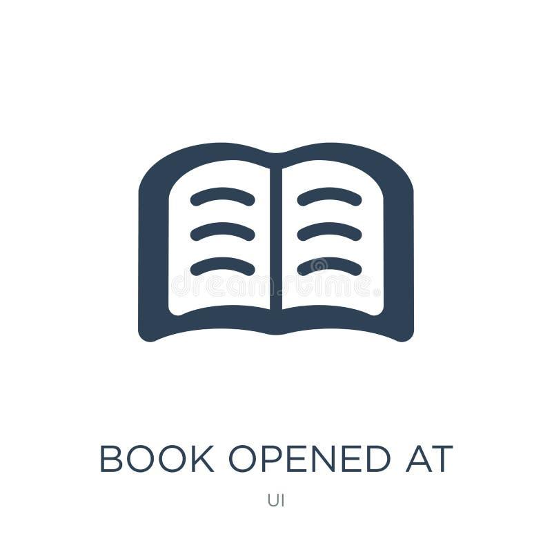 il libro si è aperto all'icona concentrare nello stile d'avanguardia di progettazione il libro si è aperto all'icona concentrare  illustrazione di stock