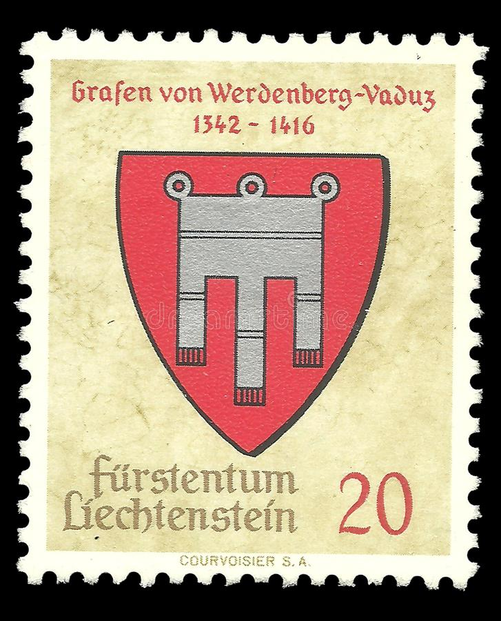 Il Liechtenstein, bollo fotografia stock