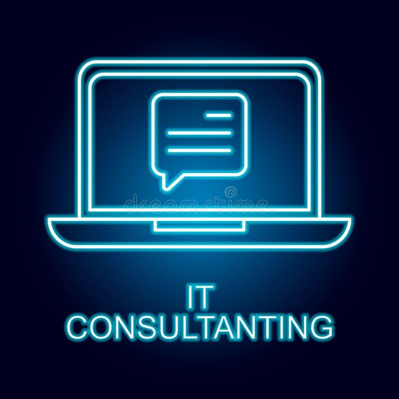il ligne de consultation ic?ne dans le style au n?on ?l?ment d'ic?ne de ressources humaines pour les apps mobiles de concept et d illustration stock