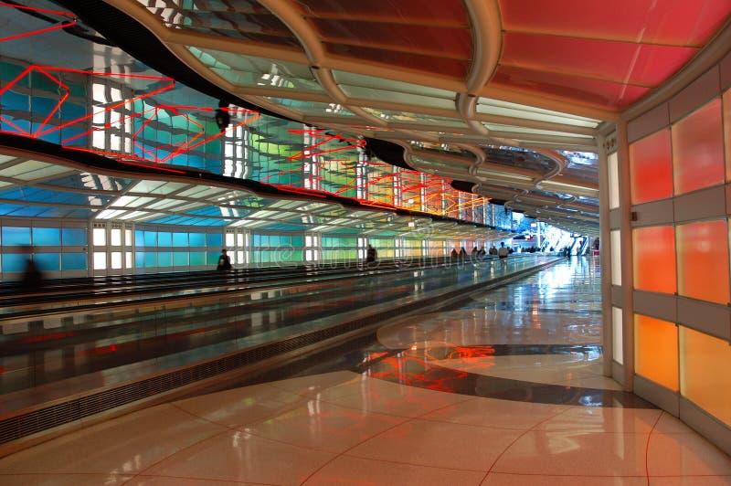 Il limite del cielo, arte pubblica all'aeroporto del O'Hare di Chicago fotografie stock libere da diritti
