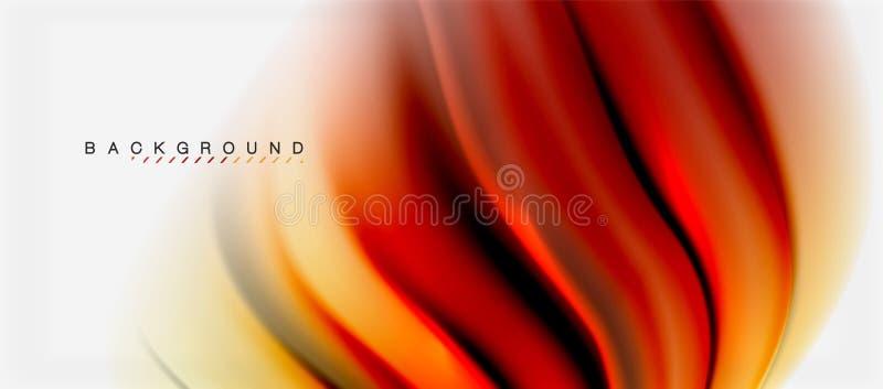 Il liquido vago colora il fondo, le linee delle onde dell'estratto, illustrazione di vettore royalty illustrazione gratis