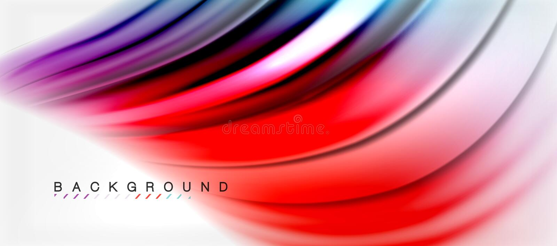 Il liquido vago colora il fondo, le linee delle onde dell'estratto, illustrazione di vettore illustrazione vettoriale