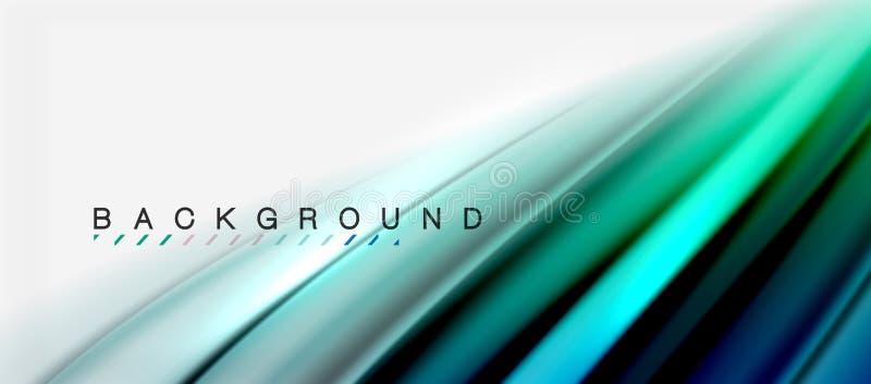 Il liquido vago colora il fondo, le linee delle onde dell'estratto, illustrazione di vettore illustrazione di stock