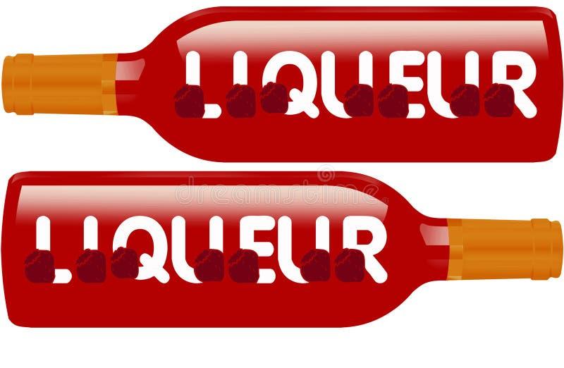 Il liquore imbottiglia il segno illustrazione vettoriale