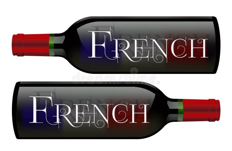 Vino francese del segno delle bottiglie di vino royalty illustrazione gratis