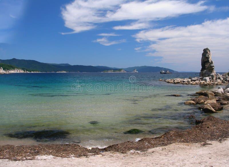 Il litorale del mare di Giappone fotografia stock libera da diritti
