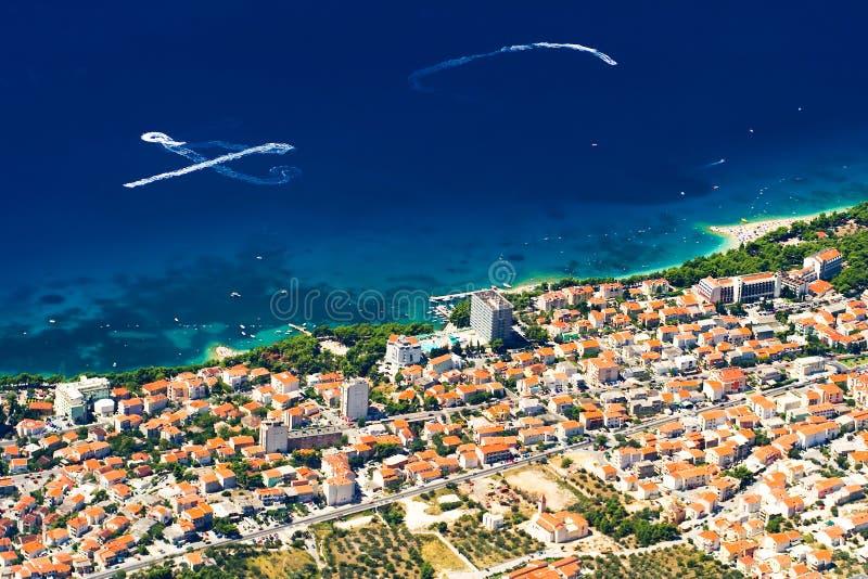 Il litorale di Makarska immagini stock