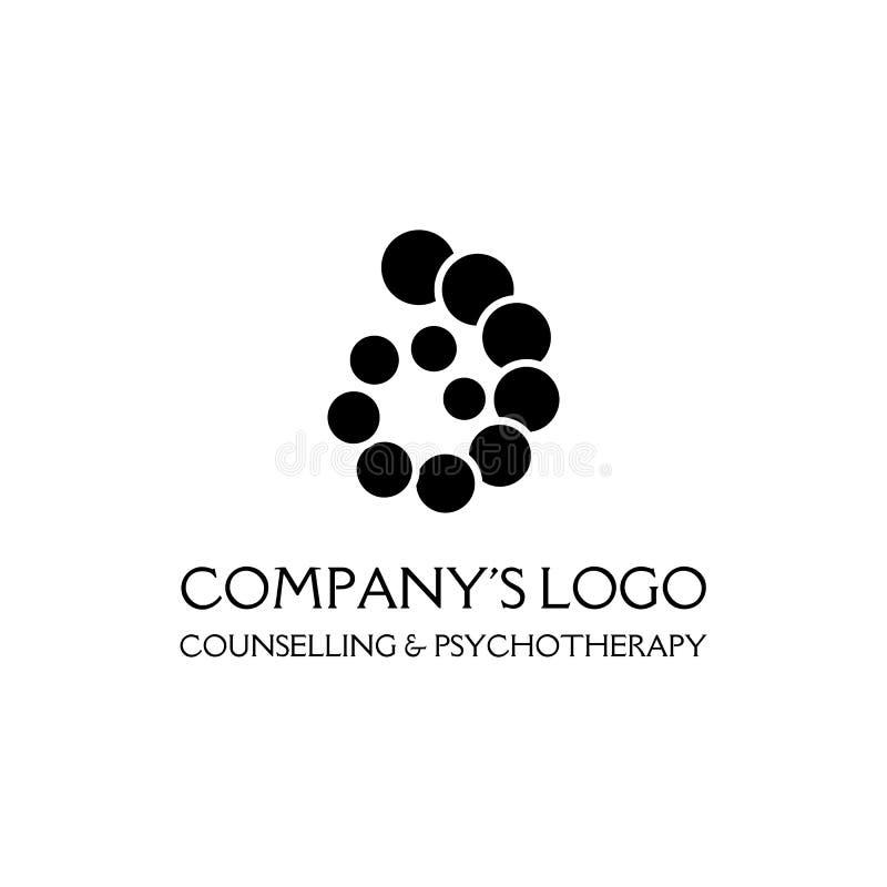 Il logo è una spirale, una catena a spirale dei cerchi, le coperture - è un simbolo dello sviluppo, del chiarimento e della sagge royalty illustrazione gratis