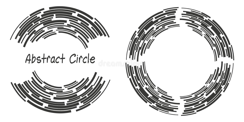 Il logo astratto del fondo circonda con le linee, forme geometriche royalty illustrazione gratis