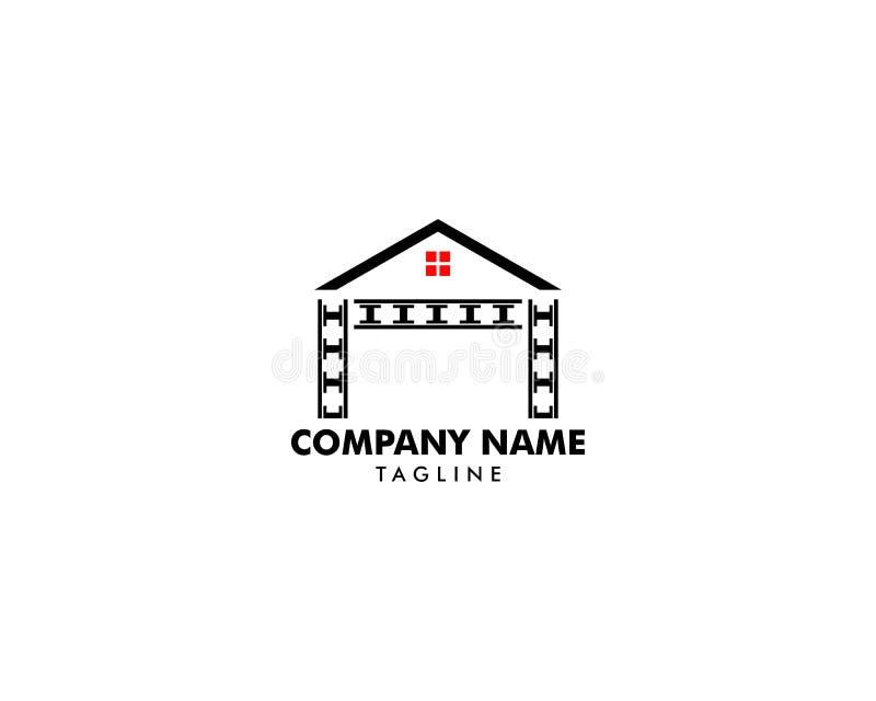 Il logo del bene immobile, della propriet? e della costruzione progetta royalty illustrazione gratis