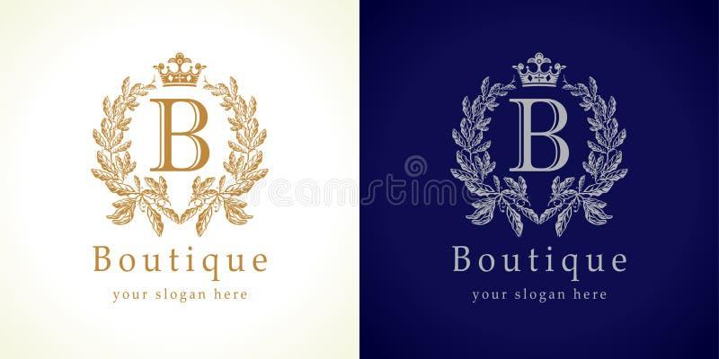 Il logo del boutique illustrazione di stock