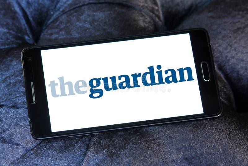 Il logo del giornale del guardiano immagini stock