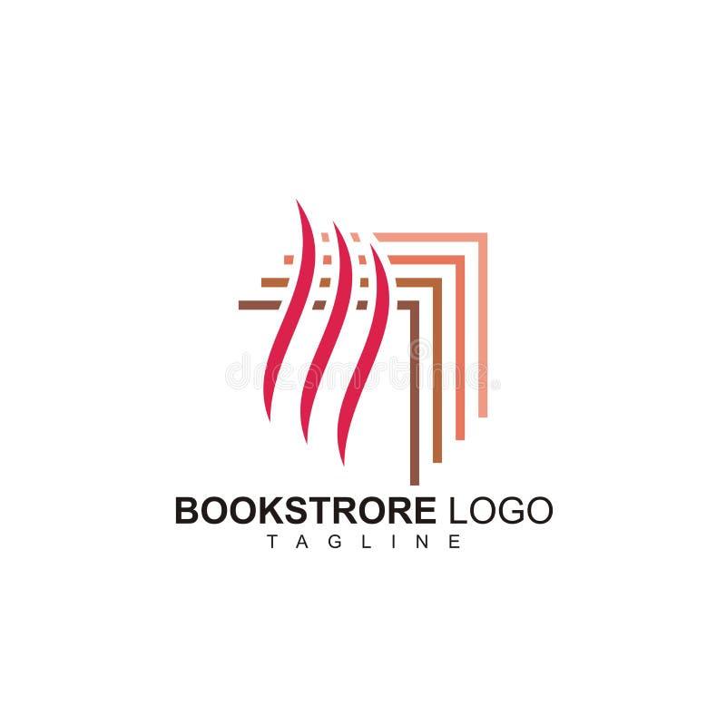 Il logo della libreria dello symple pronto per l'uso illustrazione di stock