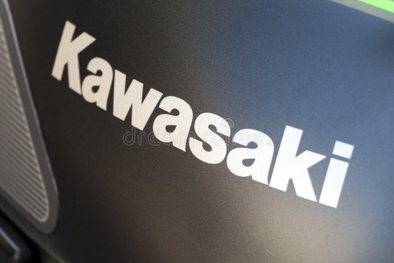Il logo delle motociclette di Kawasaki fotografia stock