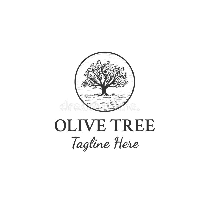 Il logo di olivo progetta l'ispirazione royalty illustrazione gratis
