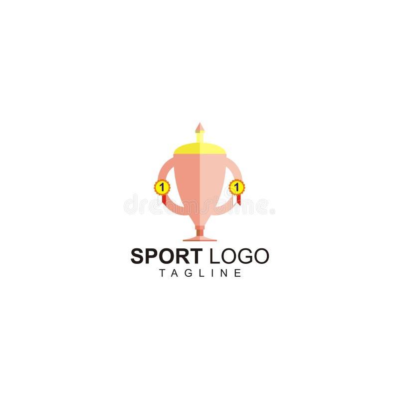 Il logo di sport con una progettazione del trofeo fotografia stock libera da diritti