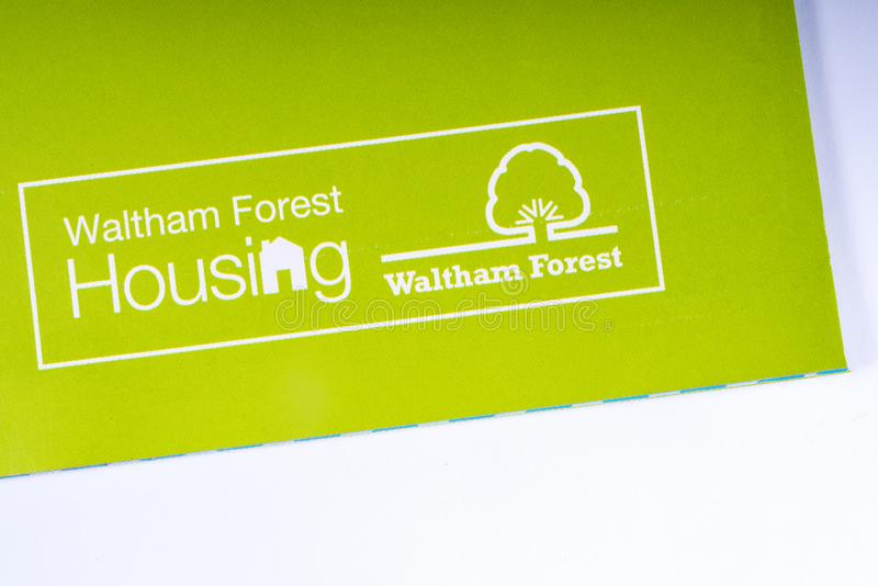 Il logo di Waltham Forest Housing fotografia stock
