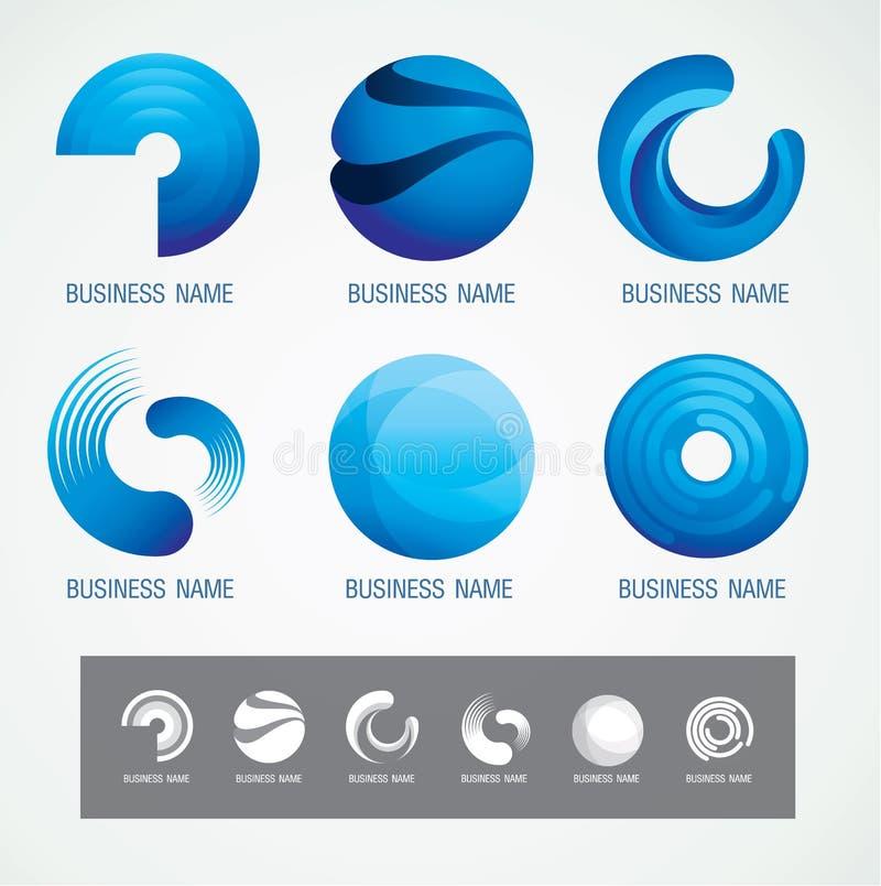 Il logo ed il simbolo progettano il concetto della O e del cerchio, minimo moderno fotografie stock