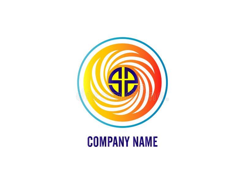 Il logo ss della lettera iniziale con la linea bianca di circonferenza Elemento di Logo Vector Graphic Branding Letter di progett illustrazione vettoriale