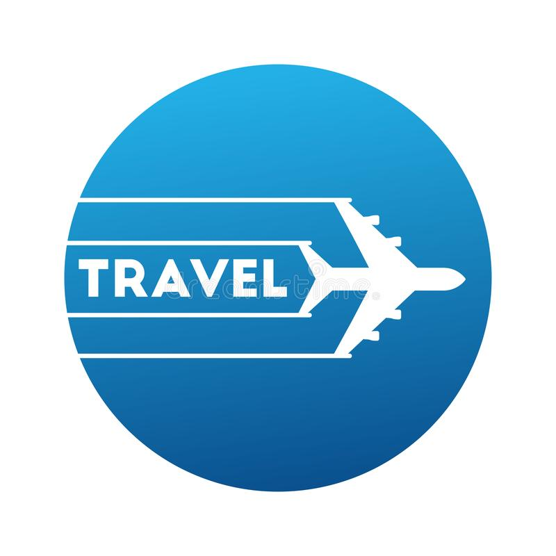 Il logo viaggia in aeroplano royalty illustrazione gratis