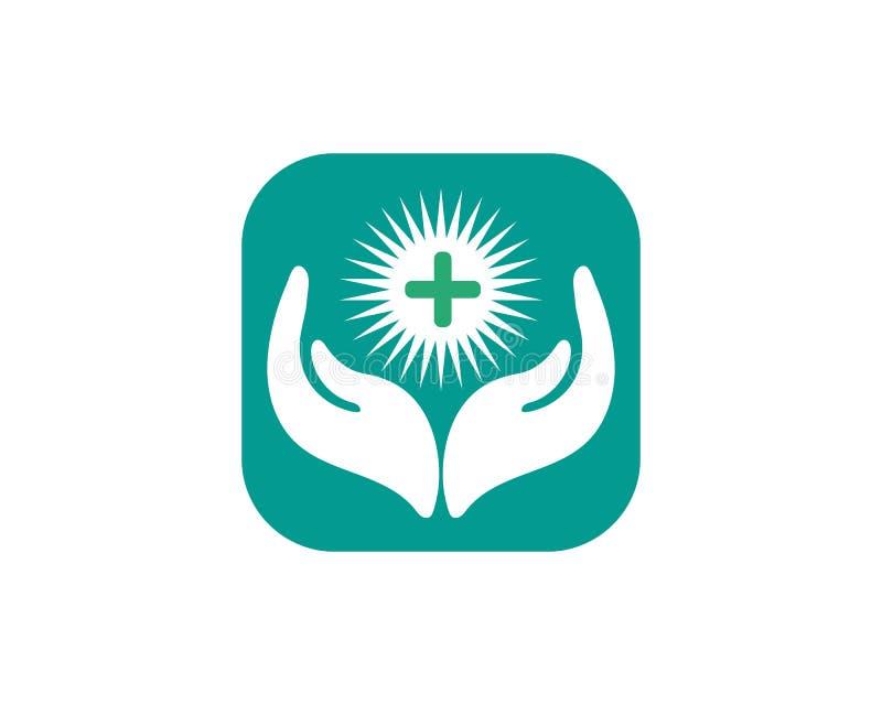 il logotype, cura, medica, medicina, meditazione, aiuto, contrappeso, persona, la fisioterapia, prega illustrazione vettoriale