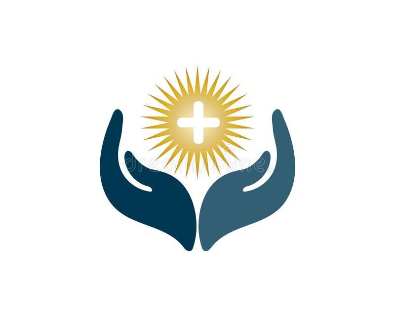 il logotype, cura, medica, medicina, meditazione, aiuto, contrappeso, persona, la fisioterapia, prega royalty illustrazione gratis