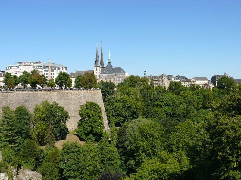 Il Lussemburgo - la citt?, il Gran Ducato del Lussemburgo, Europa fotografia stock libera da diritti