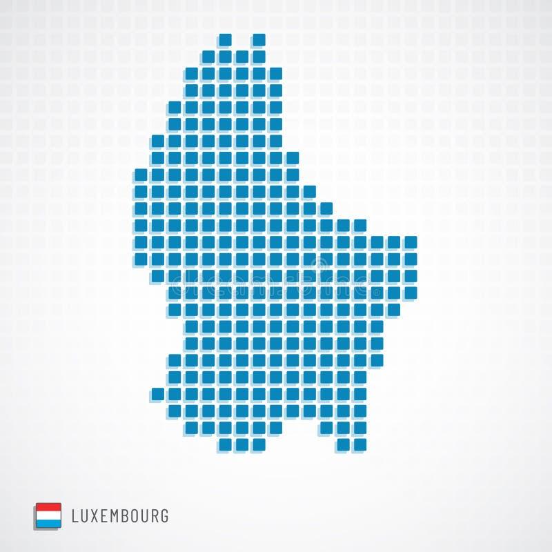 Il Lussemburgo traccia ed inbandiera l'icona royalty illustrazione gratis