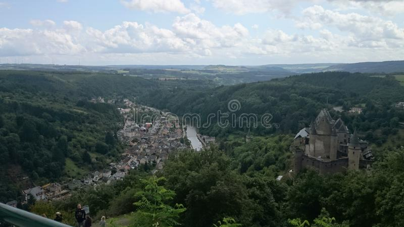 Il Lussemburgo Vianden fotografie stock libere da diritti
